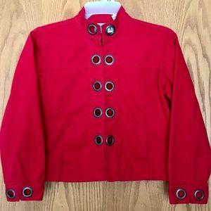 Keren Hart Denim Jacket Red, Size Small